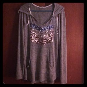 Chance or Fate Sequined Pullover. Size Large